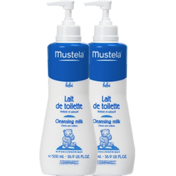 Mustela Lait de Toilette 500 ml LOT DE 2